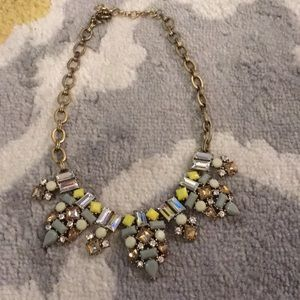 🔵 Yellow & Gray J. Crew Statement Necklace